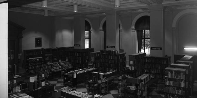 Figura 2: Atual sala de música da Biblioteca Livre da Filadélfia