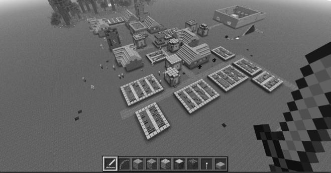 Figura 6 - Biblioteca do futuro no Minecraft desenhada por Andrew e Riley Lankes