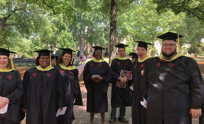 SLIS Graduate students outside